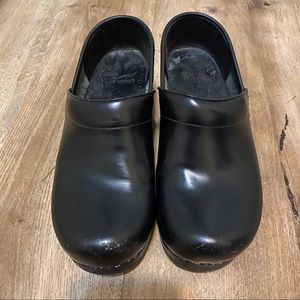 Dansko Black Clogs Size 37